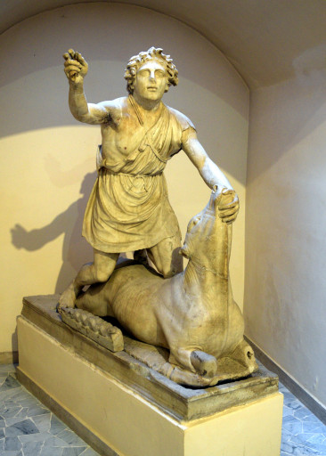 Mithros was one of the leading gods in roman times. You see a lot of Bulls, bull fighting, and sacrificing cows anywhere there were roman armies.