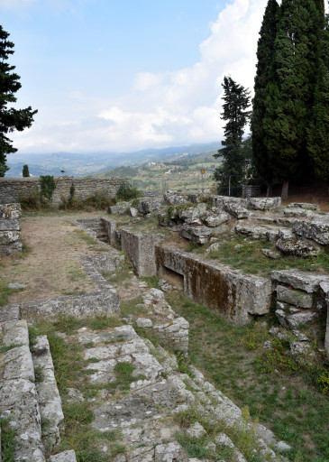 This is the Etruscan ruins - it is quite hard to separate from the roman ruins around it.