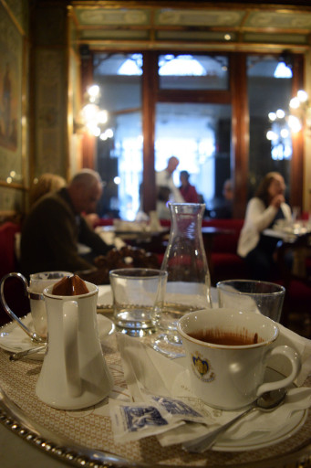 We fancied it up at Caffe Florian for a afternoon coffee and hot chocolate. It dates back to 1720 and was worth it.