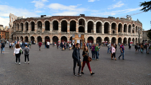Apparently Verona has its own Coleseum and it is both nicer than the Roman variant and it is still used for concerts.