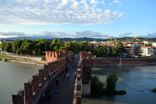Castelvecchio bridge. The Castelvecchio museum is a must see in Verona. It has a neat arms and armor exhibit.