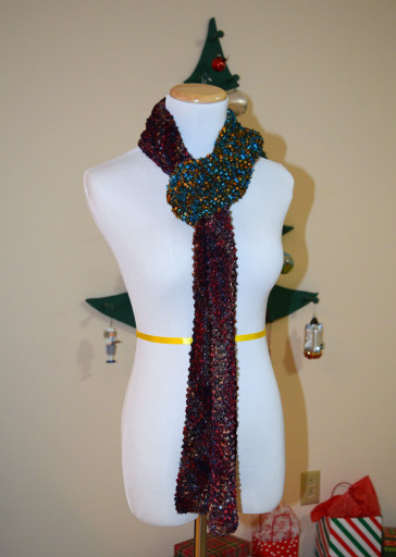 The finished scarf.