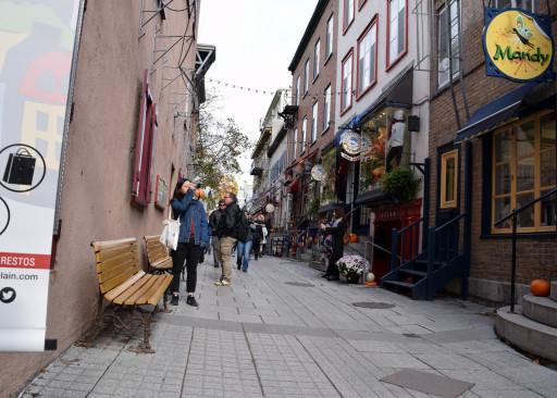 The best part of Quebec was how pleasant and walkable the streets were.