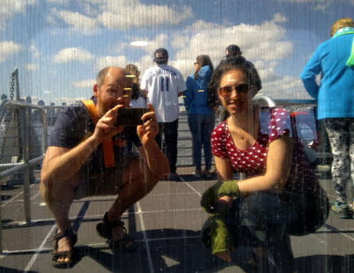 Best selfie is boat window reflection selfie.