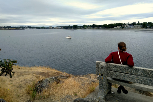 Oak Bay is a pleasant place to sit around.